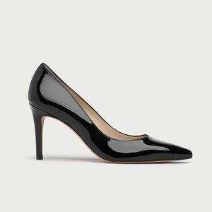 LK Bennett Floret Black Patent Leather High Heel